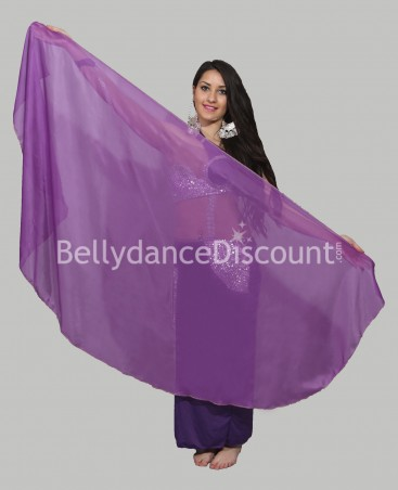 Rounded belly dance veil purple