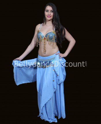 Light blue belly dance bra