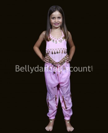 Light pink belly dance children's costume