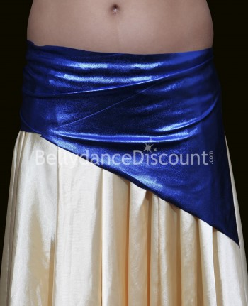 Girl's metallic bellydance belt dark blue