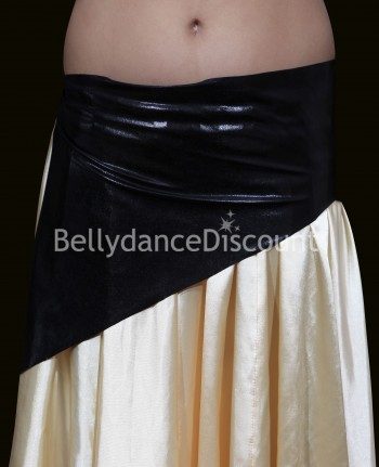 Girl's metallic bellydance belt black