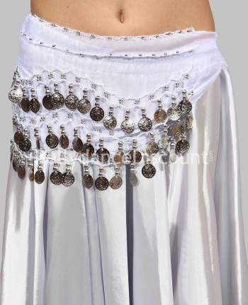 White belly dance  children's belt