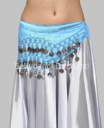 Light blue belly dance  children's belt