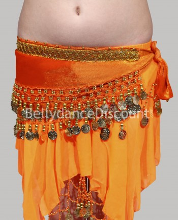 Orange belly dance  children's belt