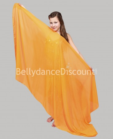 Voile enfant de danse orientale orange