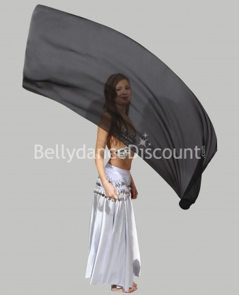 Black belly dance children's veil poi