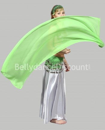 Green belly dance children's veil poi