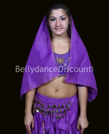 Bollywood dance head veil for girls purple