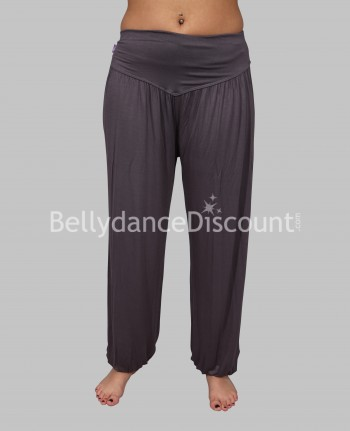 Gray Sarouel pants in cotton