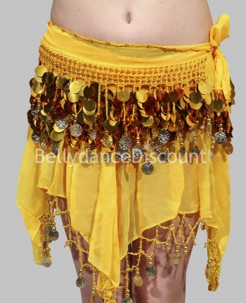 Yellow belly dance  children's belt