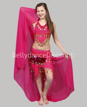 Fuchsia belly dance children's costume