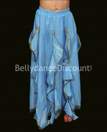Light blue belly dance  children's skirt