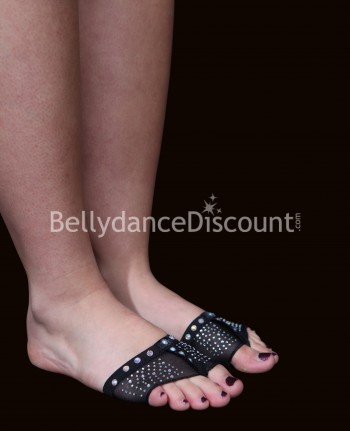 Strass black foot pads
