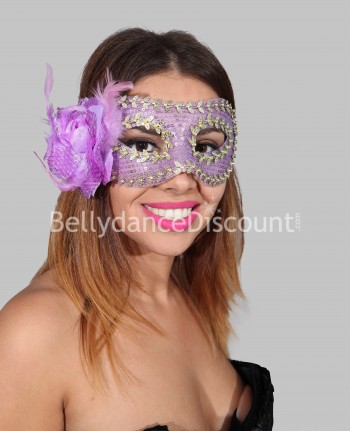 Flower mask light purple and gold