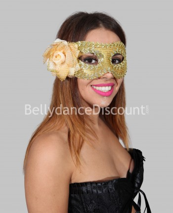 Golden flower mask