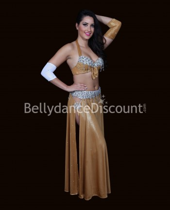 Glittery Bellydance ​costume gold and silver
