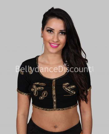 Black bollywood dance top