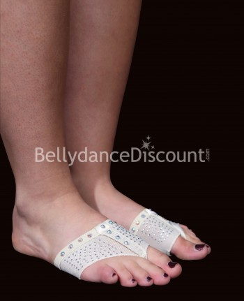 Strass beige foot pads