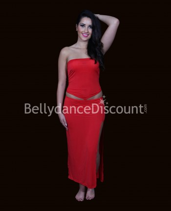 Asymmetrical Bellydance dress red