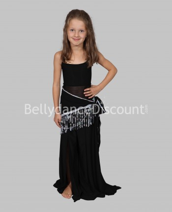 Girl's dance class outfit 3 pieces black