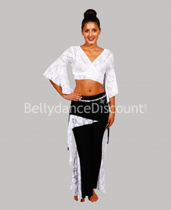 Lace outfit white for dance classes