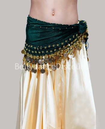 Green belly dance children's belt