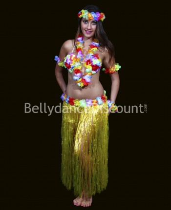 Hawaiian Dancer dress-up costume yellow