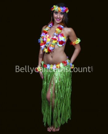 Hawaiian Dancer dress-up costume green