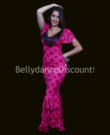 Flamenco dance dress fuchsia