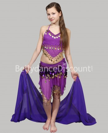 Purple belly dance...