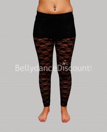 Dance leggings black in lace