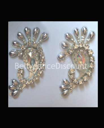 Set of 2 prestige bindis silver
