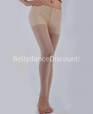 Collants de danse sans pied couleur chair