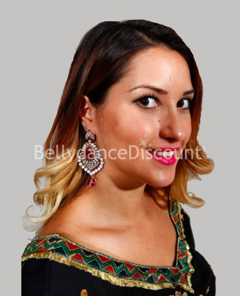Indian earrings fuchsia