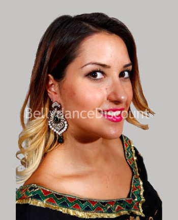 Indian earrings green
