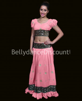 Costume Bollywood color rosa polvere