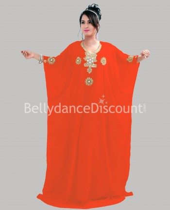 Robe orientale Khaliji orange