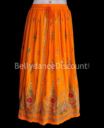 Jupe de danse indienne orange