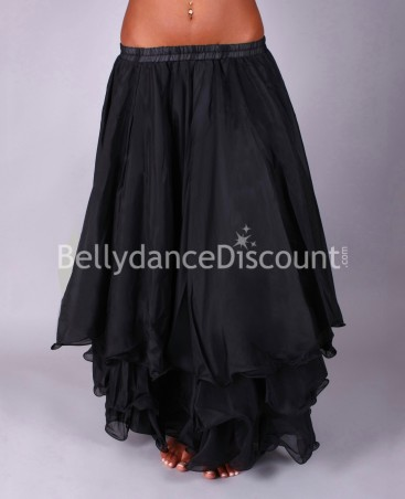 Black belly dance skirt with lining