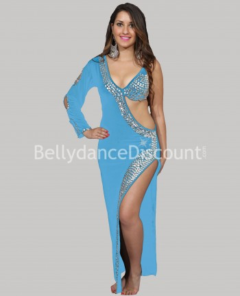 Light blue and Silver Baladi/Saidi Bellydance dress