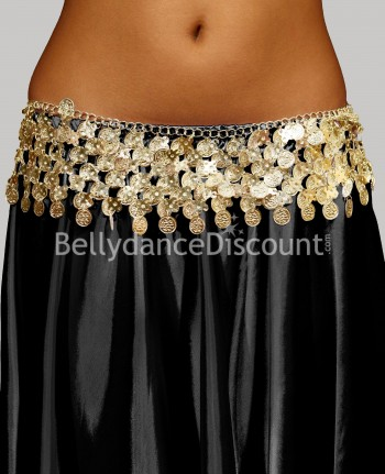 Oriental dance golden belt with sequins