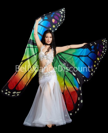 Butterfly Oriental dance multicolored Isis wings