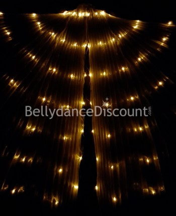 Illuminated Oriental dance Isis wings with gold LED