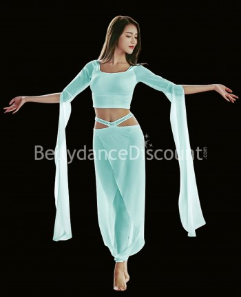 Dance outfit aqua top + pants