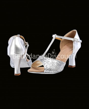 Dance shoes silver and glitters