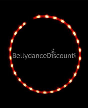 Lighted belly dance hoop red