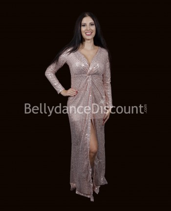 Light pink glittery Bellydance dress