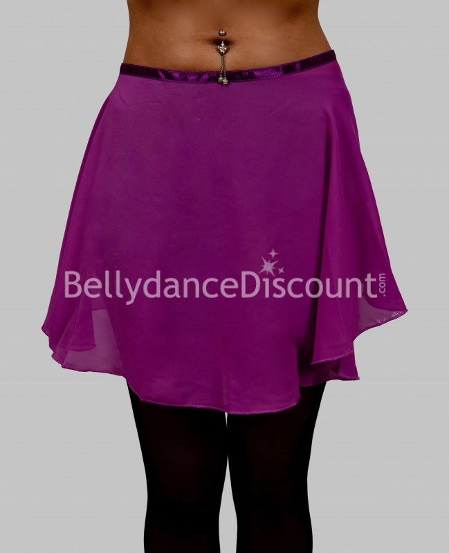 Purple chiffon dance small skirt