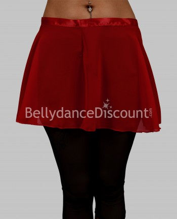 Chiffon short burgundy dance skirt