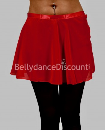 Red chiffon dance small skirt